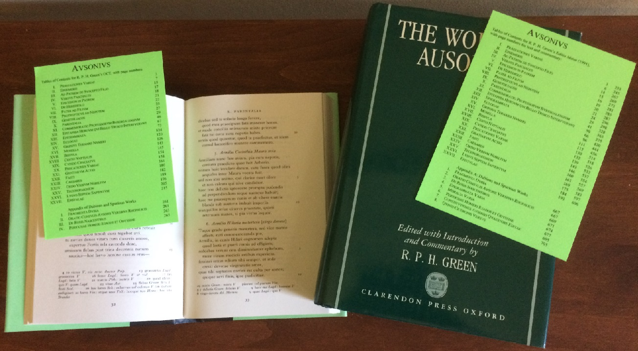 Green's Ausonii with TOC docs